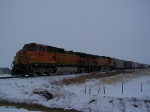 Found This Short Mixed Freight Awaiting to Enter the BNSF Line Off the Yellowstone Valley RR Line