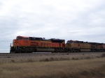 BNSF 9308 Brings a Doublestack Train Past My Location West of Town