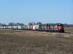 Slow-Moving Dakota, Missouri Valley and Western Grain Train