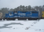 CONRAIL(NS)5290 OPERATION LIFESAVER SITS IN MILLVILLE RAILROAD YARD ON A SNOWY DAY IN THE WINTER