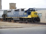 CSX WORKS SOME COVERED SAND HOPPERS AT GERRESHEIMER GLASS IN VINELAND, NEW JERSEY