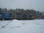 CSX 2725 & CONRAIL(NS) 5290 SIT IN THE FALLING SNOW IN MILLVILLE RAILROAD YARD, MILLVILLE, NEW JERSEY