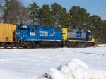 CSX 2725 & CONRAIL(NS)5290 OPERATION LIFESAVER IDLE IN MILLVILLE RAILROAD YARD ON A COLD WINTER'S DAY