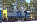 CSX IDLES IN THE SNOW IN MILLVILLE RAILROAD YARD