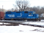 CONRAIL(NS) 5290 WAITS FOR CSX 2725 TO SPOT CARS AT GENERAL MILLS SIDING, VINELAND, NEW JERSEY