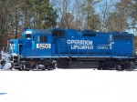 CONRAIL(NS) 5290 OPERATION LIFESAVER IDLES IN MILLVILLE RAILROAD YARD IN THE SNOW