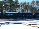 PROCOR TANKERS SIT IN A SNOW COVERED RAILROAD YARD