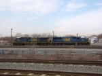 CSX 8582 and 576