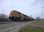 BNSF 9874,  28Feb2010  Stacked behind trn #6254 waiting SB with coal