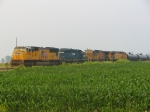 A shot of all four locomotives. One SD70M, Lease SD40-2, and 2 GE AC4400CW's