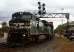 NS 8371 and BNSF 1958 lead eastbound stacks