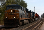 Q393 heads west with new BNSF ES44C4's in tow