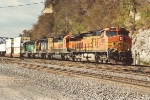 Eastbound stack train rolls through Hoffman