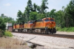 BNSF 7620 leads another double stacker east