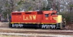 L&NW #54 sitting behind the shop