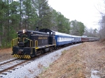Santa Special on the Calera & Shelby Railroad