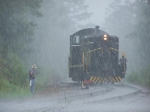 Switching in the rain at Springs Junction