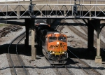 BNSF 5926 coming under the Spring St. Signals