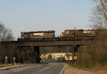 NS 3290 leads NS light power move 994 over the Chattahoochee Bridge