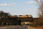 NS 220 with a TFM leader crosses the Chattahoocee River bridge