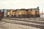 Eastbound stack train wait side by side