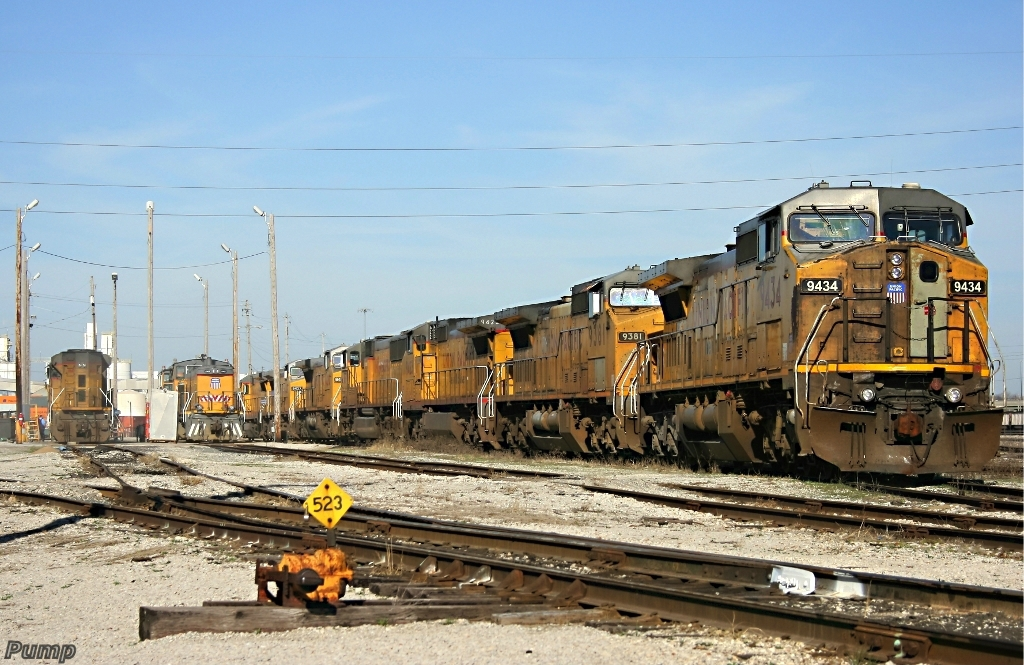 Locomotives in UP Armourdale Yard