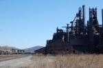 NS M8G passing the Bethlehem Steel plant
