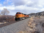 BNSF 5154 at Springdale, MT