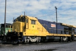 IR 6, GE B23-7, lays over at the BNSFs Eola Yard