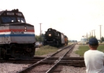 PM 1225 meets Amtrak 376