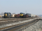 CSX 2700 & 373 sit tied down near each other at the west end of the yard