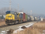 CSX 436 & 373 lead Q334-09 eastward