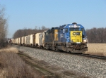 The one-of-a-kind painted CSX 8803 leads Q334-17