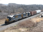 CSX 2639 & 2517 lead Y103 back west with 2 cars