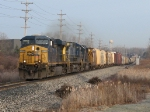 Three units lead Q334-24 east with 93 cars