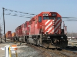 Led by CP 6050, X500-29's all-EMD consist pulls east down the main