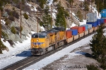 Union Pacific 7403 at Emigrant Gap, CA.