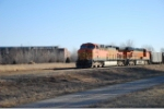 BNSF 5695 lead coal empties north