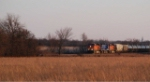 BNSF 5972 races north on the Afton sub