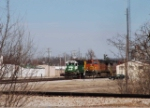 Two trains working the yard (unusual for 2009)