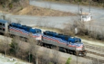 VRE 3 & 6 Doubleheading Southbound