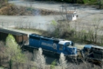 CSX Coal Train with Conrail 8814
