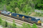 "A CSX consist of low-photographed ""8"" units"
