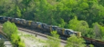 7 CSX locomotives heading north