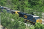 Camera-shy CSX units 876 & 249 spotted