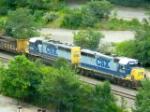 CSX 6244 & 6280 laying rail (1 of 4)