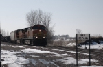 BNSF 4883 Leading A NB Manifest Towards The Crossing