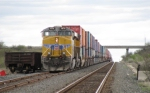 UP 7870 leads intermodal