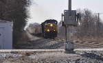 CSX 392 hauls grain over the switchbacks 