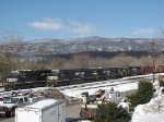 A view of the yard and the beautiful Appalachian's